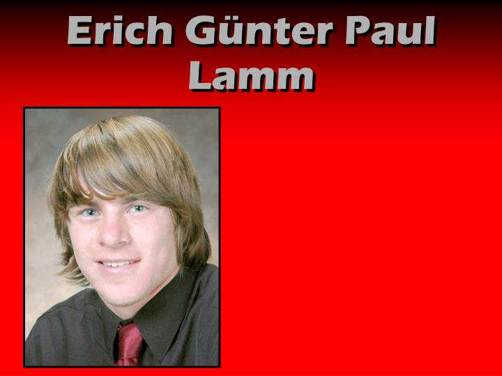 Erich Günter Paul Lamm