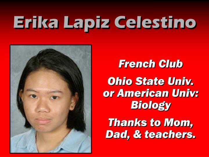 Erika Lapiz Celestino