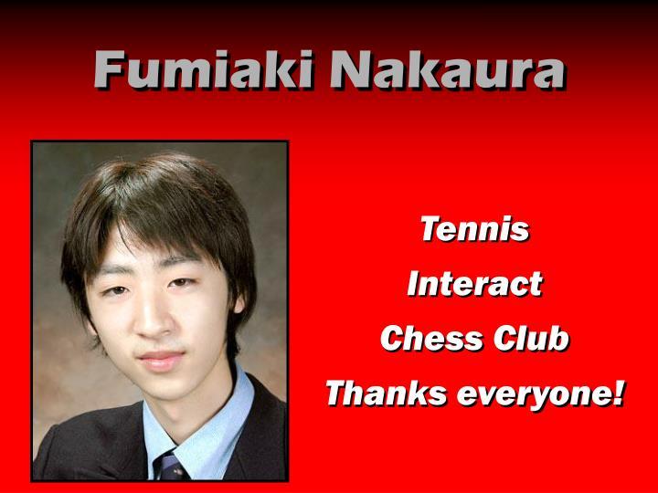 Fumiaki Nakaura