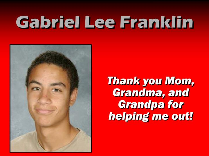 Gabriel Lee Franklin
