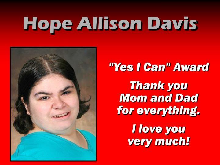 Hope Allison Davis