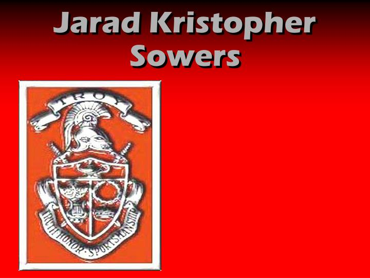 Jarad Kristopher Sowers