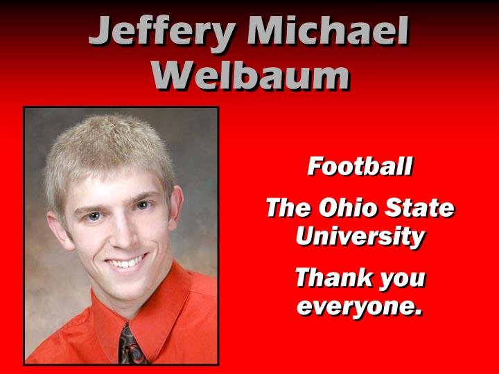 Jeffery Michael Welbaum