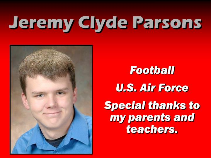 Jeremy Clyde Parsons