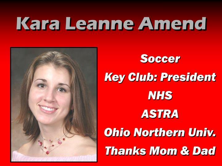 Kara Leanne Amend