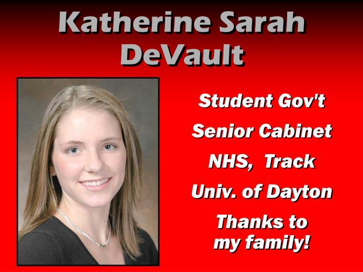 Katherine Sarah DeVault