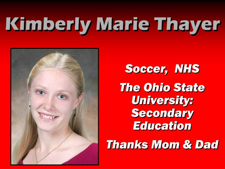 Kimberly Marie Thayer