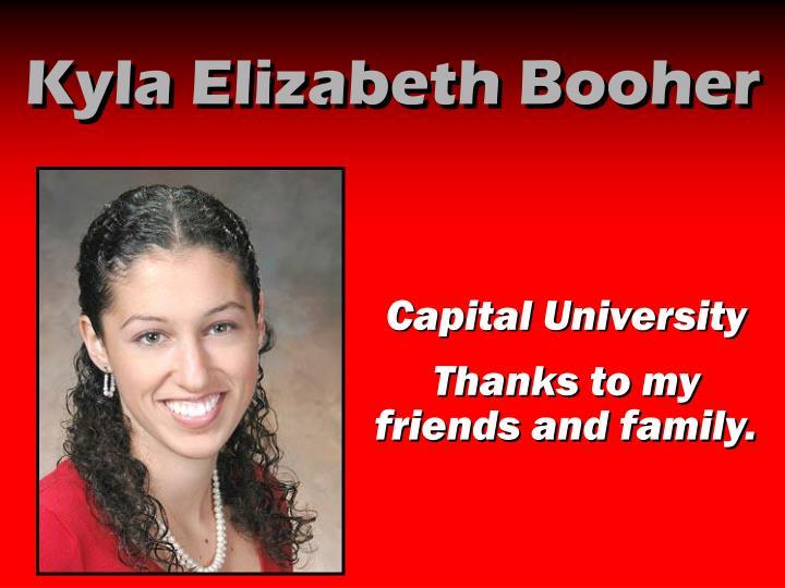 Kyla Elizabeth Booher