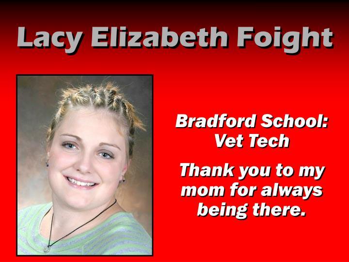 Lacy Elizabeth Foight