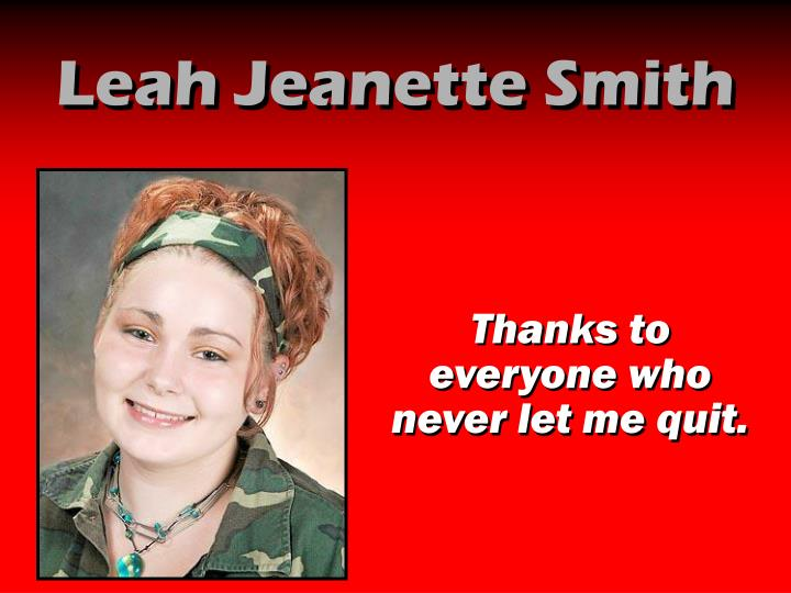 Leah Jeanette Smith