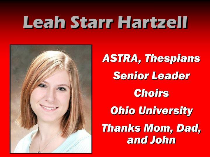 Leah Starr Hartzell