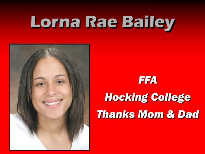 Lorna Rae Bailey