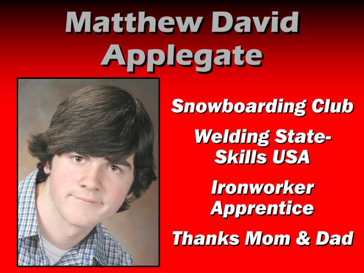Matthew David Applegate