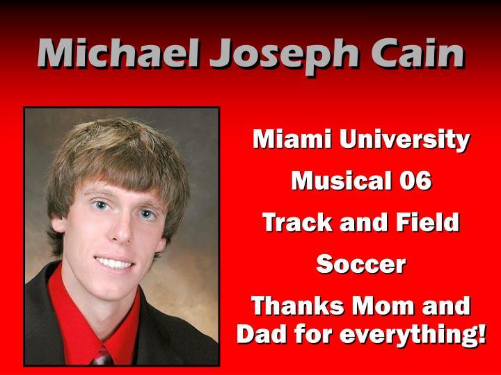 Michael Joseph Cain