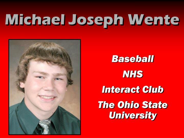 Michael Joseph Wente
