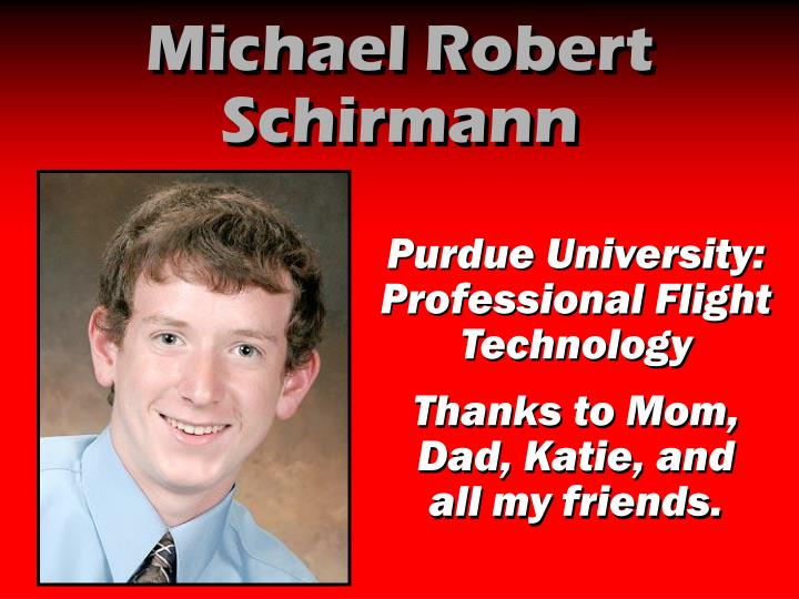 Michael Robert Schirmann