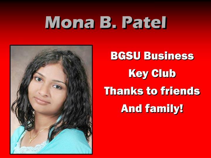 Mona B. Patel