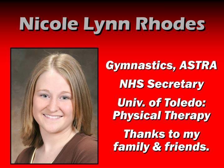 Nicole Lynn Rhodes