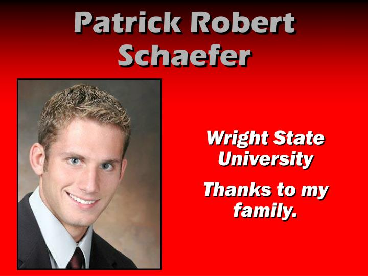 Patrick Robert Schaefer