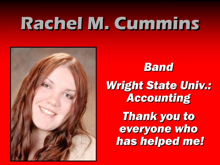 Rachel M. Cummins