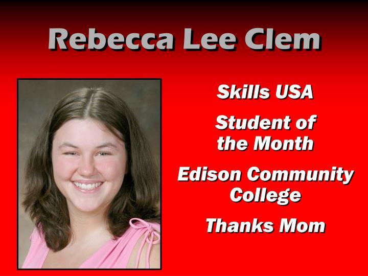 Rebecca Lee Clem