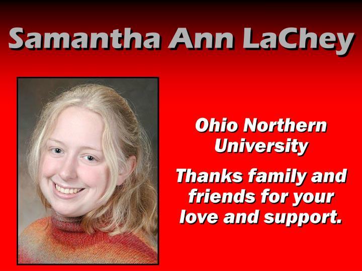 Samantha Ann LaChey