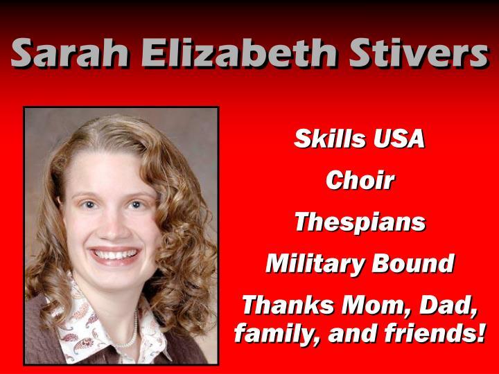 Sarah Elizabeth Stivers