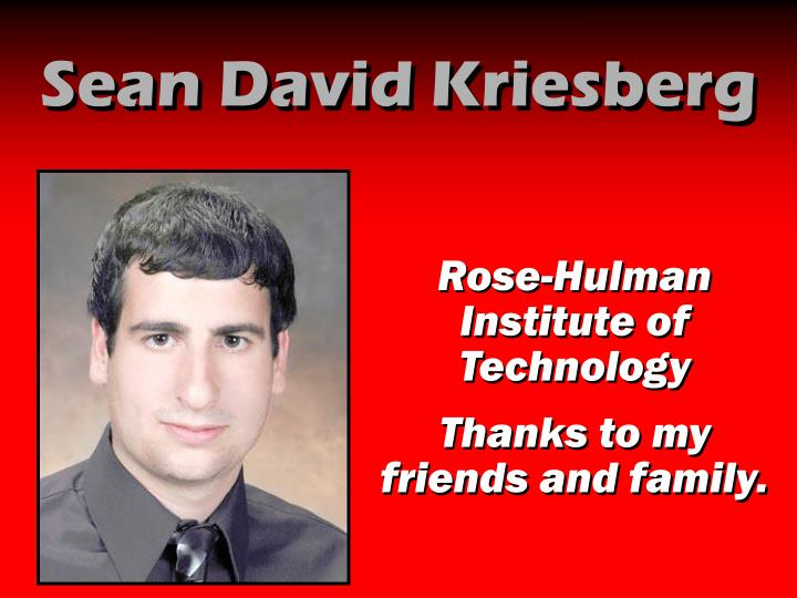Sean David Kriesberg