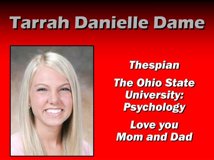 Tarrah Danielle Dame