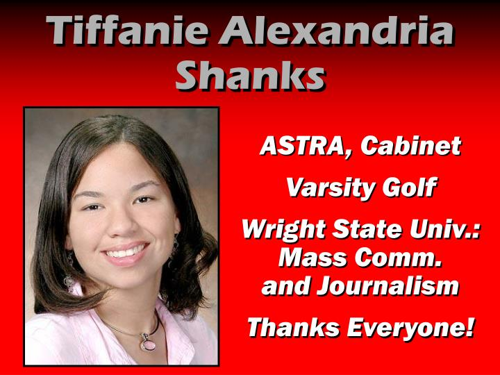 Tiffanie Alexandria Shanks