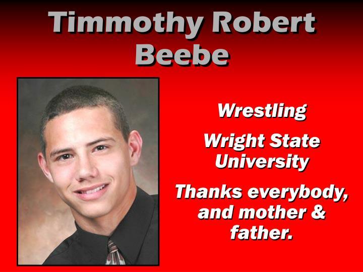 Timmothy Robert Beebe