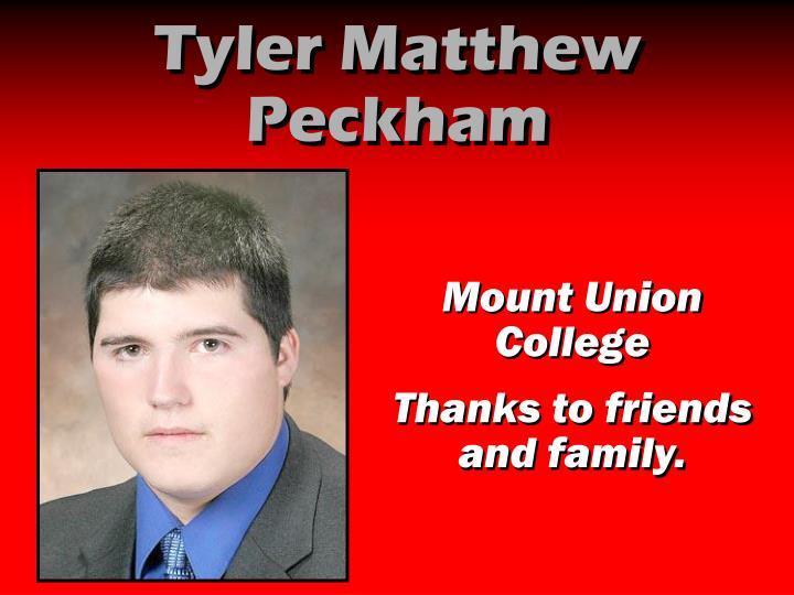 Tyler Matthew Peckham