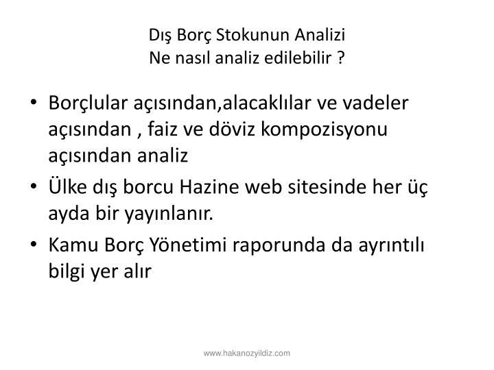 D Bor Stokunun Analizi