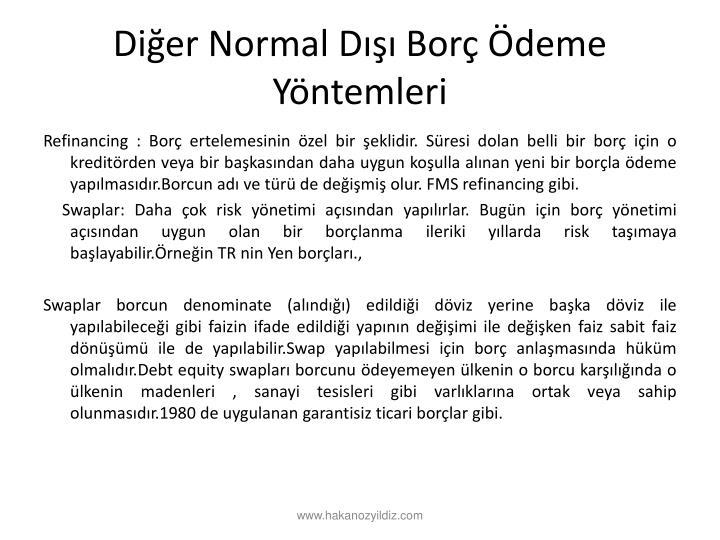 Dier Normal D Bor deme Yntemleri
