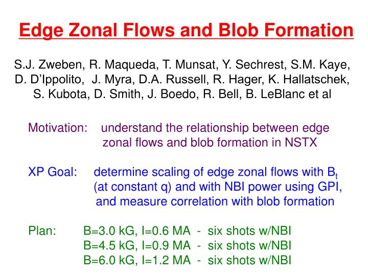 Edge Zonal Flows and Blob Formation