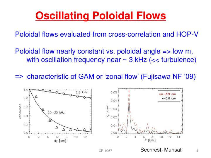 Oscillating Poloidal Flows