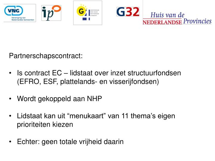 Partnerschapscontract: