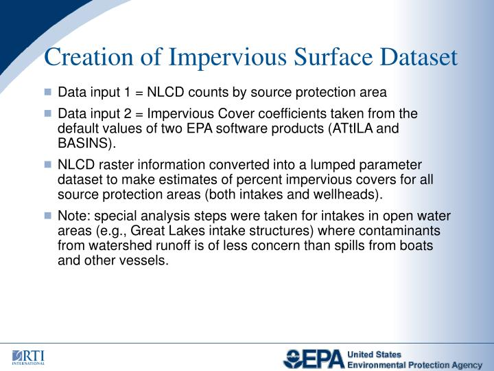 Creation of Impervious Surface Dataset