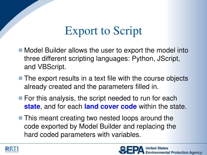 Export to Script