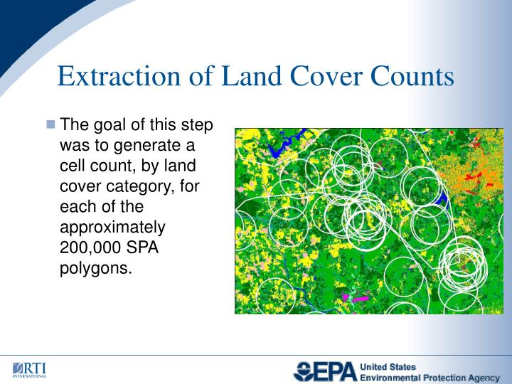 Extraction of Land Cover Counts