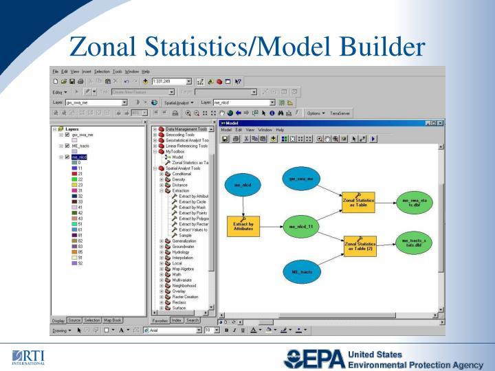 Zonal Statistics/Model Builder
