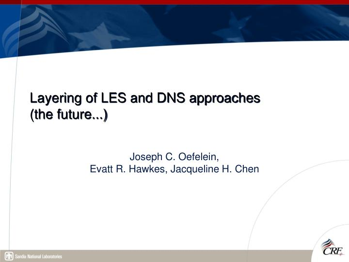 Layering of LES and DNS approaches