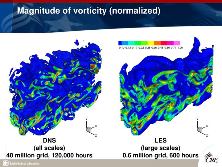 Magnitude of vorticity (normalized)