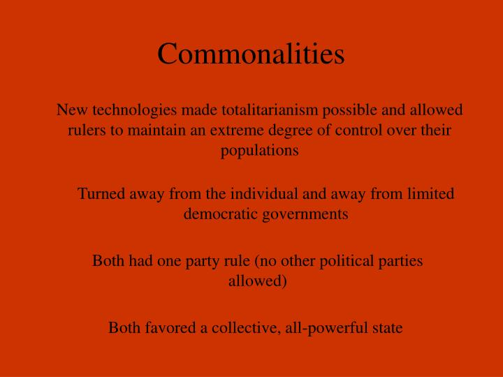 Commonalities