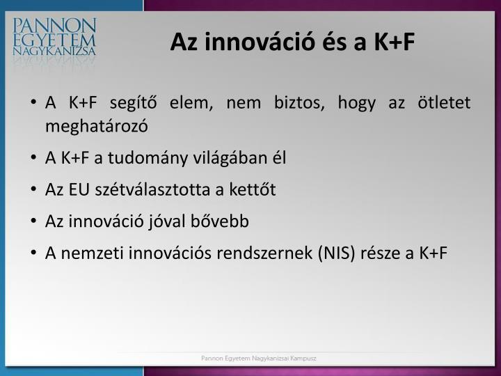 Az innováció és a K+F