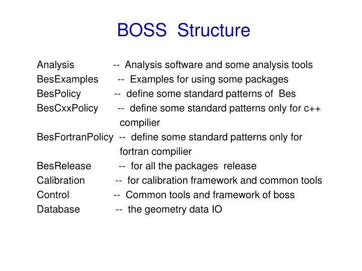 BOSS  Structure