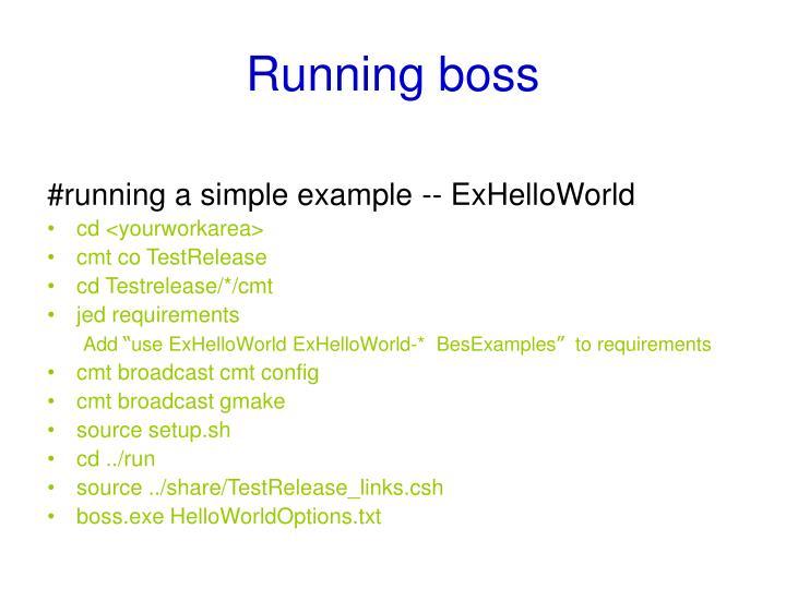Running boss