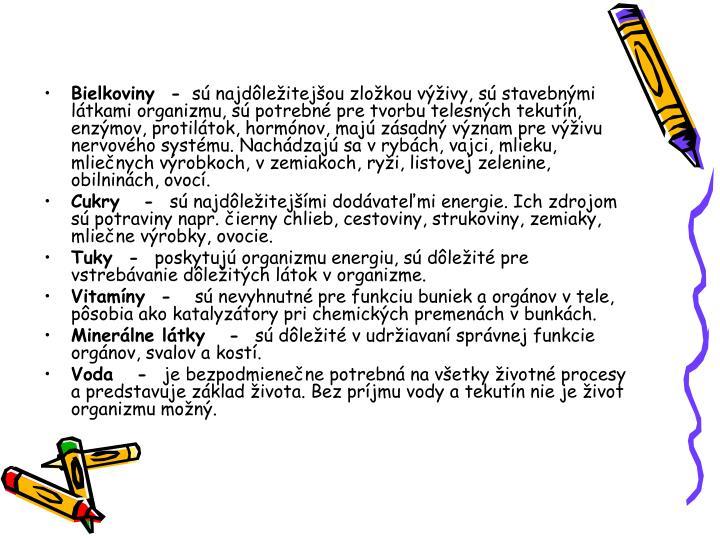 Bielkoviny  -