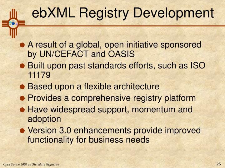 ebXML Registry Development