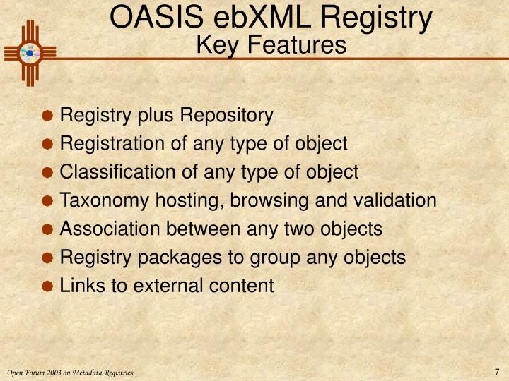OASIS ebXML Registry